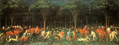 UCCELLO Paolo The Hunt In The Forest
