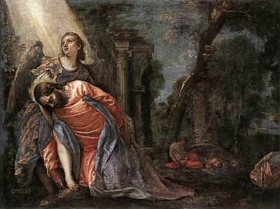 Veronese Christ in the Garden Supported by an Angel
