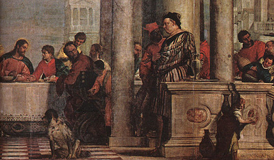 Veronese Feast in the House of Levi detail1