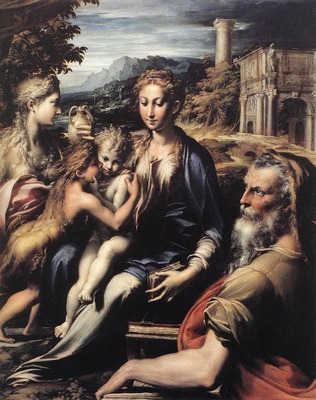 parmigianino madonna and child with saints