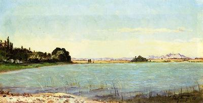 Guigou Paul Camille A Lake in Southern France