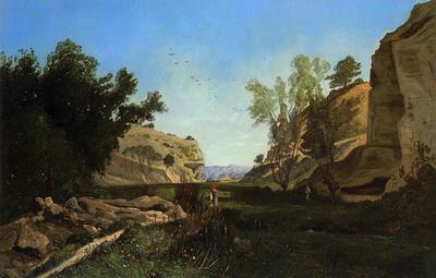 Guigou Paul Camille Chinchin Valley at Ile sur la Sourgue Vacluse