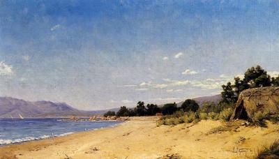 Guigou Paul Camille Hut by the Seashore