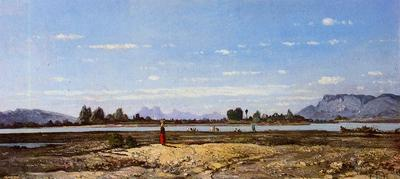 Guigou Paul Camille Landscape the Banks of the Durance