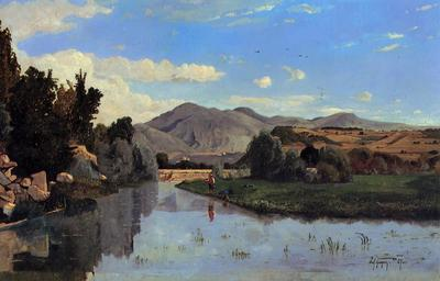 Guigou Paul Camille The Aiguebrun River at Lourmarin