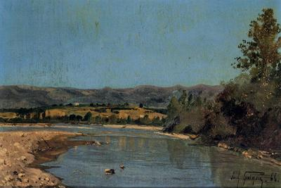 Guigou Paul Camille The Banks of the Durance at Puivert