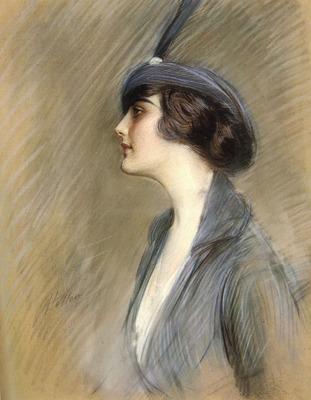 Helleu Paul Cesar Portrait Of Clara Weil