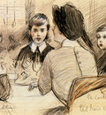 Helleu Paul Cesar A Family Dinner At The Ritz New York