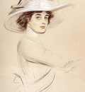 Helleu Paul Cesar Portrait Of A Woman
