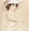 Helleu Paul Cesar Portrait Of A Woman