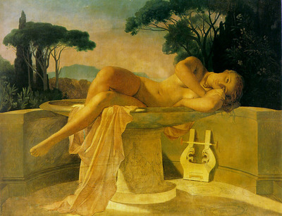 Girl in a Basin 1845 unfinished