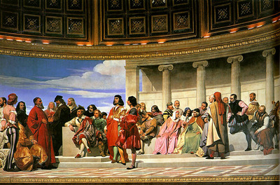 Hemicycle of the Ecole des Beaux Arts 1814 left