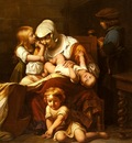 Delaroche Paul Juene Mere Et Ses Enfants