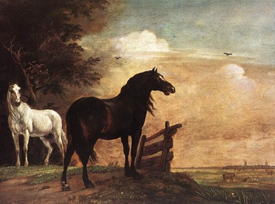 POTTER Paulus Horses In A Field