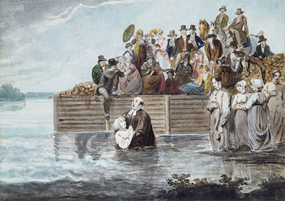 Svinin Pavel Petrovich A Philadelphia Anabaptist Immersion During A Storm