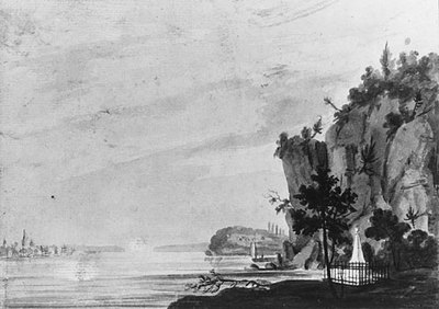 Svinin Pavel Petrovich The Monument To Alexander Hamilton At Weehawken