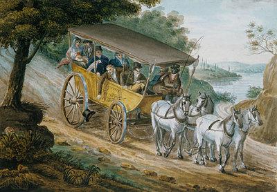 Svinin Pavel Petrovich Travel By Stagecoach Near Trenton New Jersey
