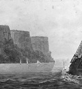 Svinin Pavel Petrovich The Packet Mohawk Of Albany Passing The Palisades