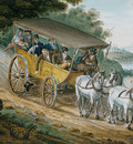 Svinin Pavel Petrovich Travel By Stagecoach Near Trenton New Jersey