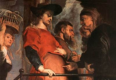 Rubens Descent from the Cross detail Meeting of Mary and Elisabeth