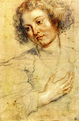 Rubens Peter Paul Head and right hand of a woman
