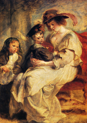 Rubens Peter Paul Helene Fourment With Two Of Her Children Claire Jeanne And Francois