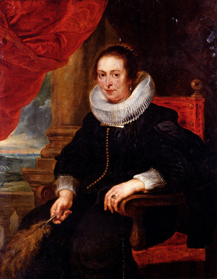 Rubens Peter Paul Portrait Of A Woman Probably His Wife