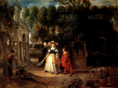 Rubens Rubens In His Garden With Helena Fourment