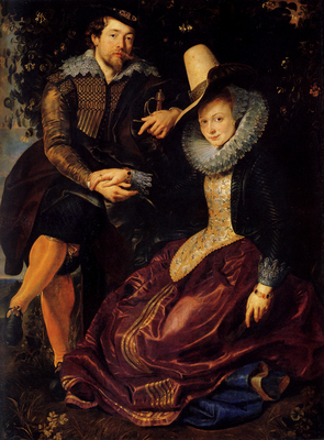 Rubens Self Portrait With Isabella Brant