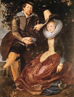 Rubens The Artist and His First Wife Isabella Brant in the Honeysuckle Bower
