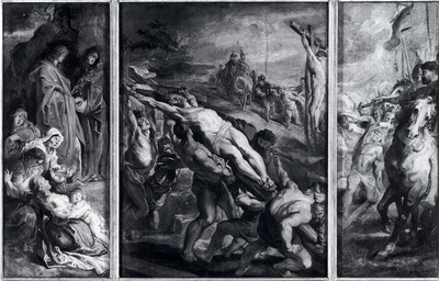 Rubens The Elevation Of The Cross Oil Sketch