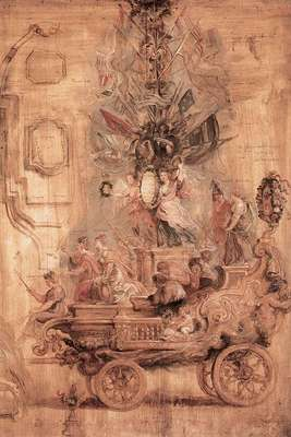 Rubens The Triumphal Car of Kallo Sketch