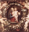 Madonna in Floral Wreath WGA