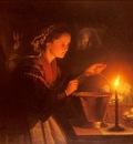 Schendel Petrus van A Market Scene By Candlelight