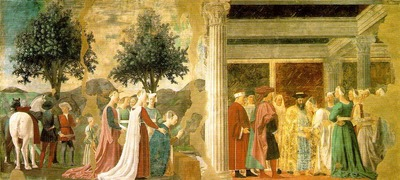PIERO della FRANCESCA Adoration Of The Holy Wood And The Meeting Of Solomon And The Queen Of Sheba