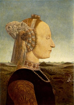PIERO della FRANCESCA Portrait Of Battista Sforza