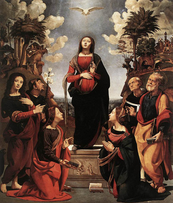 Piero di Cosimo Immaculate Conception with Saints c1505