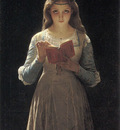 Young Maiden Reading a Book