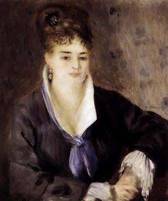 Renoir Pierre Auguste Woman In Black