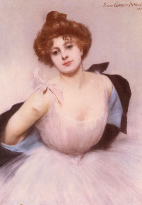 Carrier Belleuse Pierre Portrait Of A Dancer