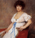 Carrier Belleuse Pierre Portrait Of A Seated Lady