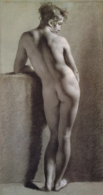 Proud hon Pierre Paul Standing Female Nude Seen from the Back