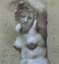 Proud hon Pierre Paul Femme nue en buste