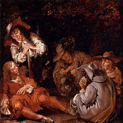 Codde Pieter Travelers Resting On A Path