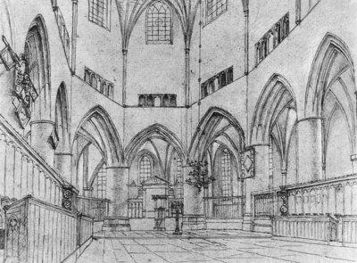 SAENREDAM Pieter Jansz Interior Of The Choir Of St Bavo At Haarlem