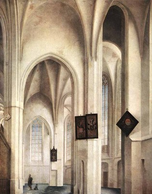 saenredam pieter jansz interior of the st jacob church in utrecht