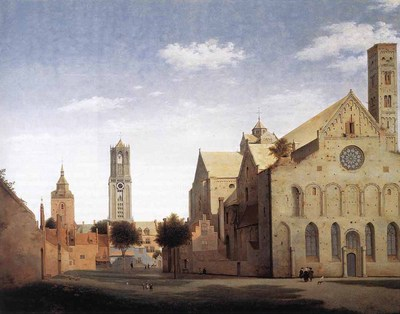 SAENREDAM Pieter Jansz St Marys Square And St Marys Church At Utrecht