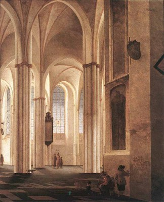 SAENREDAM Pieter Jansz The Interior Of The Buurkerk At Utrcht