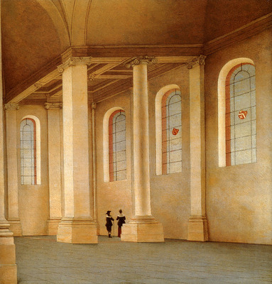 saenredam Pieter jansz Haarlem The Interior Of The Nieuwe Kerk Seen From The South West