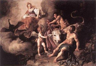 LASTMAN Pieter Pietersz Juno Discovering Jupiter With IO